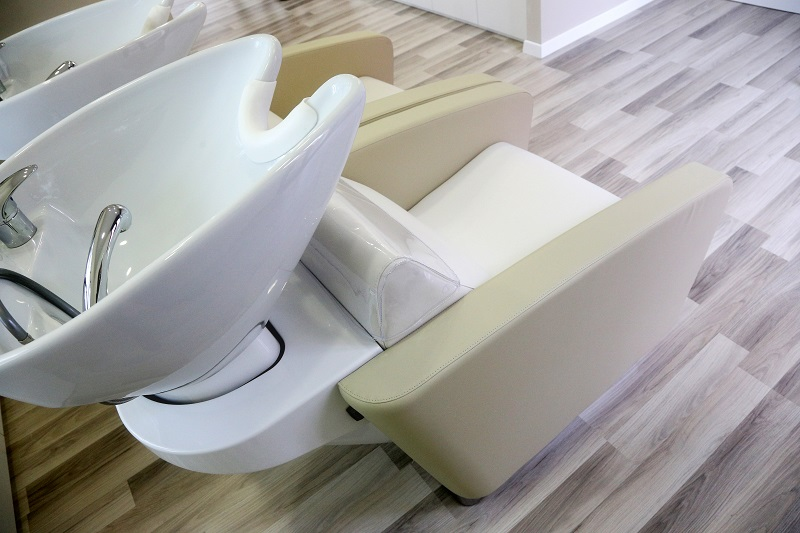 Superieur Realized By EASY FLAIR Furniture: Salon Chairs: Miami Chair Backwash Units:  Miami Smart Styling Units: Gossip Styling Units: Maya Footrest: Area